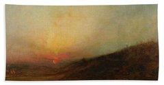 Beach Towel featuring the painting Ralph Albert Blakelock  1847  1919  Indian Encampment At Sunset by Artistic Panda
