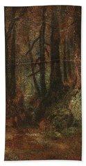 Beach Towel featuring the painting Ralph Albert Blakelock  1847  1919  Woodland Stream by Artistic Panda