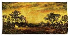 Ralph Blakelock, Indian Encampment Beach Towel