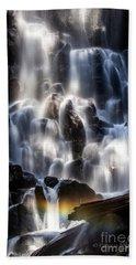 Ramona Falls With Rainbow Beach Towel by Patricia Babbitt