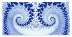 Ram's Horn Blue Beach Towel