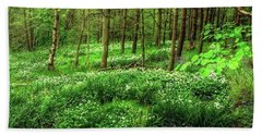 Ramsons And Bluebells, Bentley Woods Beach Towel