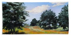 Ranch Road Near Bandera Texas Beach Towel