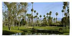 Rancho Mirage Golf Course Beach Sheet by Nina Prommer
