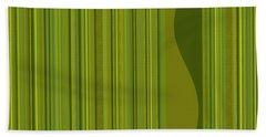 Random Stripes - Golden Green Beach Sheet
