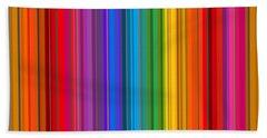 Random Stripes - Rainbow Stripe Beach Sheet