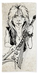 Randy Rhoads Beach Sheet by Gary Bodnar