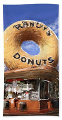 Randy's Donuts Beach Towel