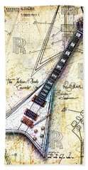 Randy's Guitar Beach Sheet by Gary Bodnar