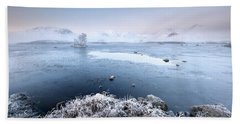 Beach Towel featuring the photograph Black Mount Misty Winter Sunrise by Grant Glendinning