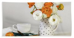 Beach Towel featuring the photograph Ranunculus Bouquet by Kim Hojnacki