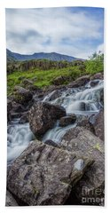 Rapids Of Snowdonia Beach Towel by Ian Mitchell