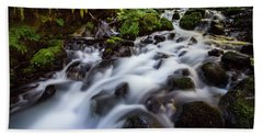 Rapids On Wahkeena Creek Beach Towel