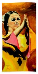 Raquel Heredia - Flamenco Dancer Sold Beach Towel