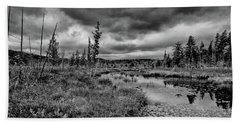 Beach Towel featuring the photograph Raquette Lake Bog by David Patterson