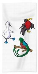 Rare Old Birds Beach Towel