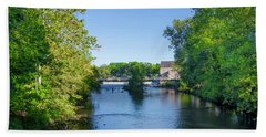 Raritan River - Clinton New Jersey  Beach Sheet by Bill Cannon