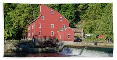 Rariton River And The Red Mill - Clinton New Jersey Beach Towel by Bill Cannon