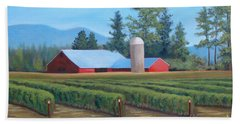 Beach Towel featuring the painting Raspberry Fields Forever by Phyllis Howard