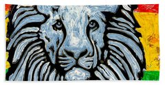 Rastafari Lion Beach Towel
