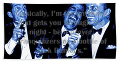 Rat Pack At Carnegie Hall With Quote Beach Towel