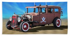 Beach Towel featuring the photograph Rat Rod On Beach 3 by Mike McGlothlen