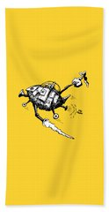 Rats In Space Beach Towel