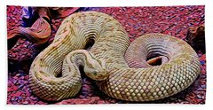 Rattlesnake In Abstract Beach Towel