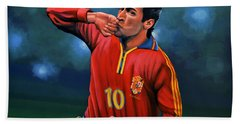 Raul Gonzalez Blanco Beach Towel by Paul Meijering