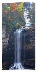 Raven Cliff Falls #2 Beach Towel by Alan Lenk