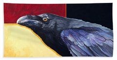 Raven Of The Tomorrow Wings Beach Towel