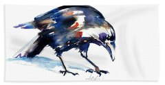 Raven Shadow From Vancouver Beach Towel