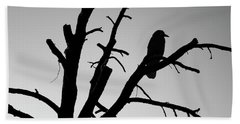 Raven Tree II Bw Beach Towel