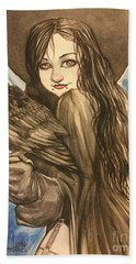Raven Witch Beach Towel