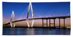 Ravenel Bridge 2 Beach Towel by Bill Barber