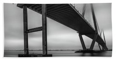 Ravenel Bridge November Fog Beach Sheet