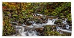 Cascades And Waterfalls Beach Towel