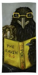 Ravens Read Beach Towel