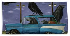 Ravens' Ride Beach Towel