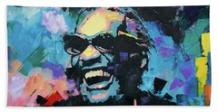 Beach Towel featuring the painting Ray Charles by Richard Day
