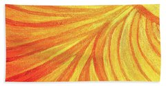 Rays Of Healing Light Beach Towel by Rachel Hannah