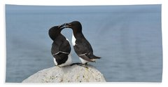 Razorbills In Love Beach Towel