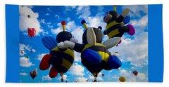 Hot Air Balloon Cheerleaders Beach Sheet