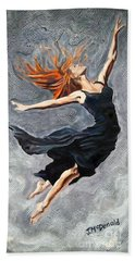 Beach Towel featuring the painting Reach For The Stars by Janet McDonald