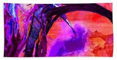 Reaching To Purple Clouds Beach Towel