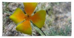 One Gold Flower Living Life In The Desert Beach Sheet