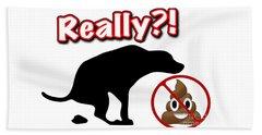 Really No Poop Beach Towel