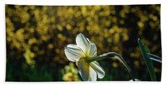 Rear View Daffodil Beach Towel