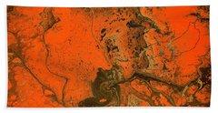 Rebirth-acrylic Pour #5 Beach Sheet