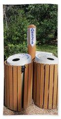 Recycle Bins. Beach Towel